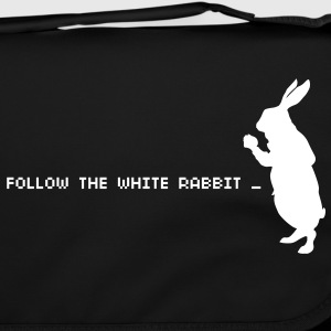 Follow the white rabbit - Sac à bandoulière