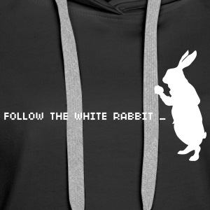 Follow the white rabbit Felpe - Felpa con cappuccio premium da donna