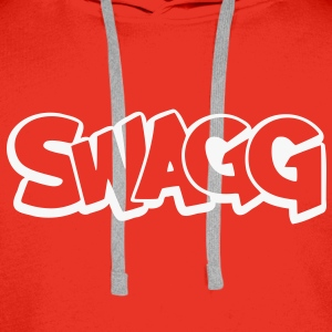 Swagg graff outline Hoodies & Sweatshirts - Men's Premium Hoodie