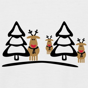 christmas reindeers crew T-Shirts - Men's Baseball T-Shirt