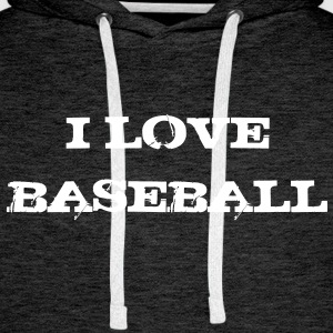 i_love_baseball Sweat-shirts - Sweat-shirt à capuche Premium pour hommes