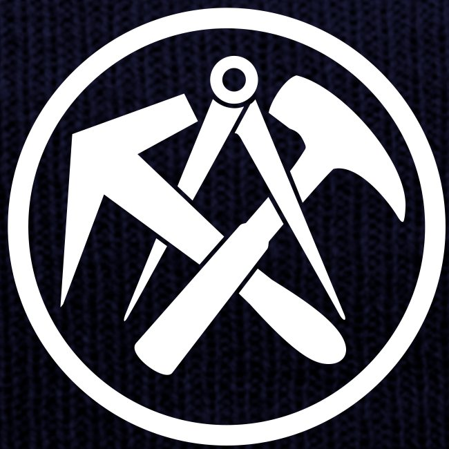 Dachdecker zunftzeichen  Handwerker-Bekleidung   Dachdecker Mütze blau. Arbeitskleidung ...
