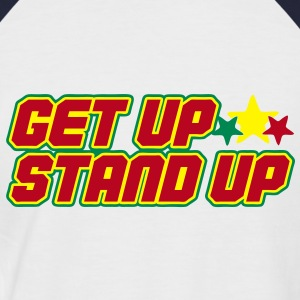 get up stand up Tee shirts - T-shirt baseball manches courtes Homme