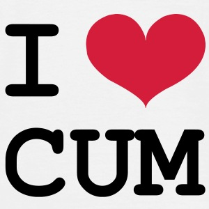 I Love Cum [Porn / Sex] T-shirts - Mannen T-shirt