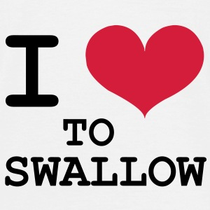 I Love To Swallow T-Shirts - Männer T-Shirt