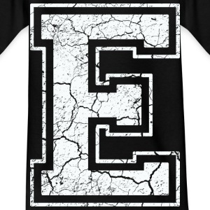 Letter S in white in the used look Shirts - Kids' T-Shirt