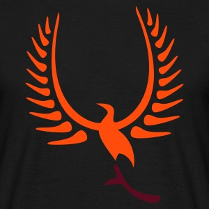 Schwarz chick phoenix v2 bird wings feather (© alteerian) T-Shirts - Männer T-Shirt