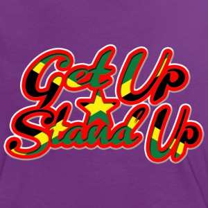 get up stand up T-Shirts - Women's Ringer T-Shirt