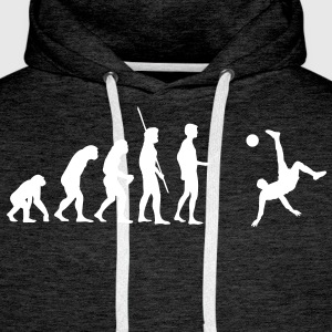 Evolution bicycle kick  Hoodies & Sweatshirts - Men's Premium Hoodie