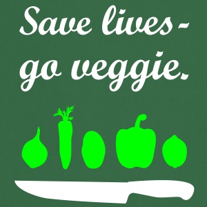 Save lives - go veggie. cook chef  Aprons - Cooking Apron