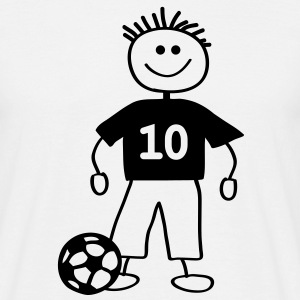 soccer player with ball - Männer T-Shirt