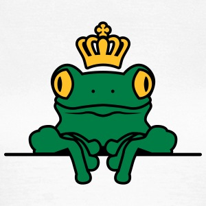 Frosch | Krone | Frog | Crown T-Shirts - Dame-T-shirt