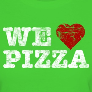 we_love_pizza_vintage_hell Tee shirts - T-shirt Bio Femme