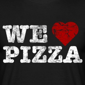 we_love_pizza_vintage_hell T-shirts - Mannen T-shirt