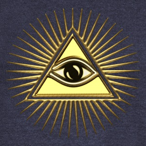 Pyramid Eye - symbol consciousness & divinity. Hoodies & Sweatshirts - Women's Boat Neck Long Sleeve Top