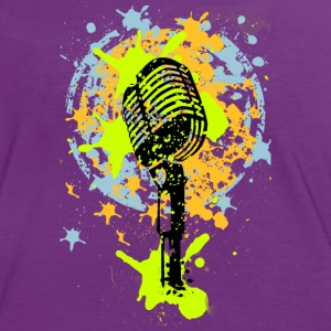 vintage microphone love music graffiti T-Shirts - Women's Ringer T-Shirt