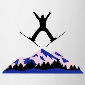 skiing, ski, mountain - Mug
