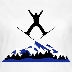 skiing, ski, mountain, T-Shirts - Women's T-Shirt