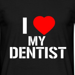 Tee-Shirt Homme I Love My Dentist (Blanc) - T-shirt Homme