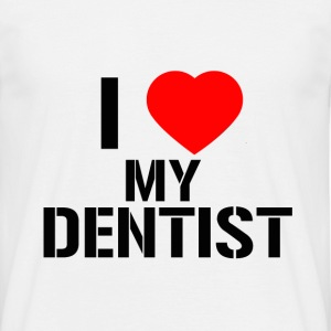 Tee-Shirt Homme I Love My Dentist (Noir) - T-shirt Homme