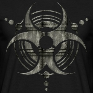 metal BIOHAZARD crop circle | unisex shirt - Männer T-Shirt
