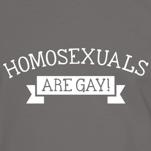 homosexuals are gay T-shirts - Herre kontrast-T-shirt