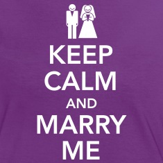 Keep calm and marry me T-skjorter