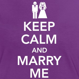 Keep calm and marry me T-Shirts - Women's Ringer T-Shirt