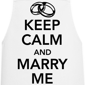 Keep calm and marry me Forklær - Kokkeforkle
