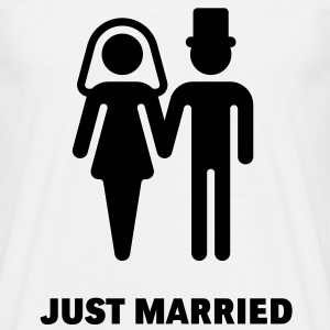 Just Married, T-Shirt - Männer T-Shirt