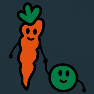 carrot_and_pea T-shirts - Herre-T-shirt
