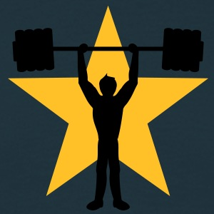 weightlifting_star T-shirts - Mannen T-shirt