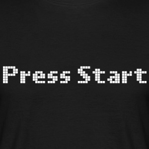 press start T-shirts - Mannen T-shirt