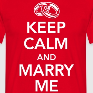 Keep calm and marry me T-shirts - Mannen T-shirt