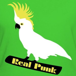 Real Punk, Kakadu, Papagei, Vogel T-Shirts - Frauen Bio-T-Shirt