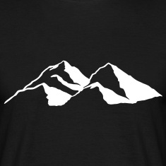 Mountain Mountains Rock mass range chain T-Shirts