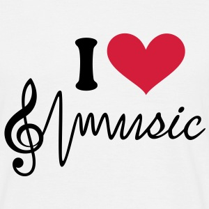 I love music T-Shirts Männer Pulse Frequenz Musik - Männer T-Shirt