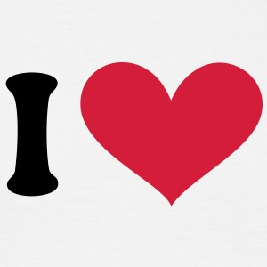 I love, I heart. . T-skjorter - T-skjorte for menn