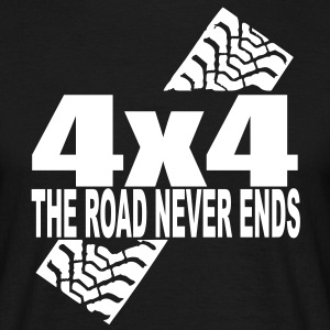 the road never ends T-Shirts - Männer T-Shirt