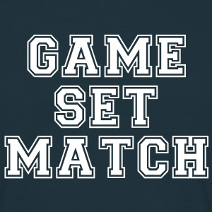 game set match T-Shirts - Männer T-Shirt