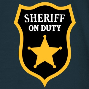 Sheriff on Duty. Police Officer T-Shirts - Men's T-Shirt