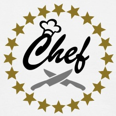 Chef with Chef´s hat and kitchen knifes T-Shirts