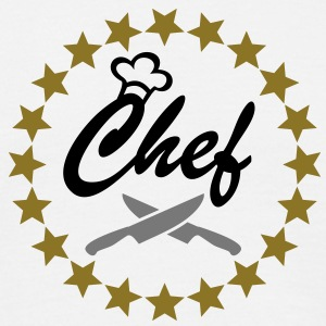 Chef with Chef´s hat and kitchen knifes T-Shirts - Men's T-Shirt