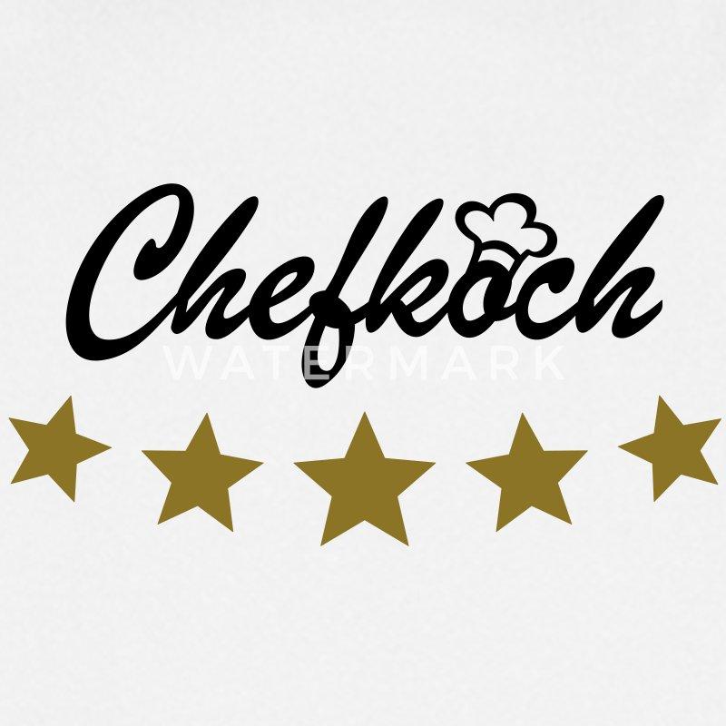 5 sterne chefkoch sternekoch kochjacke sch rze spreadshirt for Koch 5 sterne
