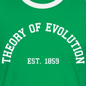 Theory of Evolution - Est. 1859 (Half-Circle) T-Shirts - Men's Ringer Shirt