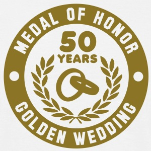 MEDAL OF HONOR 50th GOLDEN WEDDING T-Shirt - Mannen T-shirt