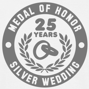 MEDAL OF HONOR 25th SILVER WEDDING T-Shirt - Mannen T-shirt