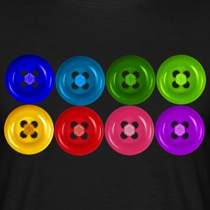 buttons in rainbow colors - Men's T-Shirt