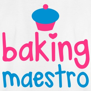 baking maestro with cutie little cupcake Shirts - Kids' T-Shirt