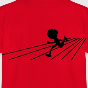 running person on a track sports Shirts - Kids' T-Shirt